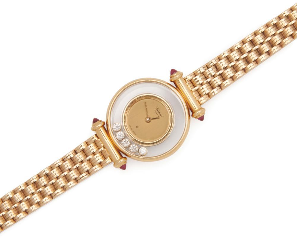 CHOPARD 18K Gold and Diamond 'Happy Diamonds' Wristwatch