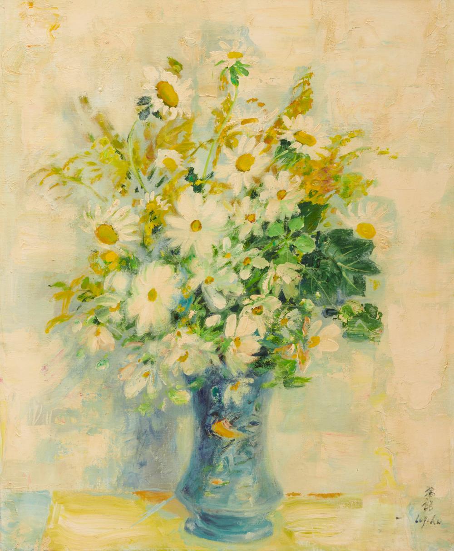 LE PHO, (Vietnamese, 1907-2001), Fleurs, oil on canvas, 29 x 24 in., frame: 35 x 30 in.