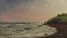 CHARLES SPRINGER, (American, 1857-1920), EASTON'S BEACH, 1918; oil on canvas;, 16 x 28 in. (20 x 32 in.)
