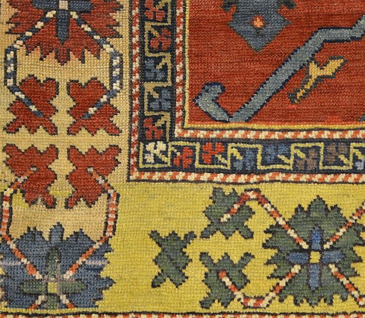 CAUCASIAN CARPET, ca. 1890;