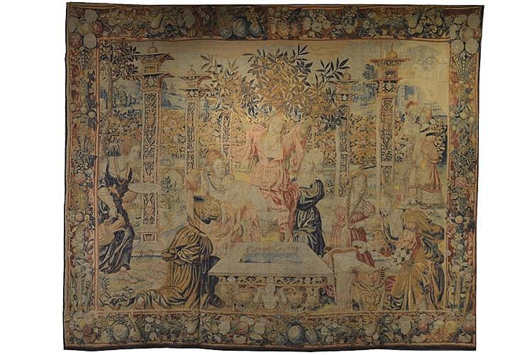 EUROPEAN MYTHOLOGICAL TAPESTRY, 17th century;
