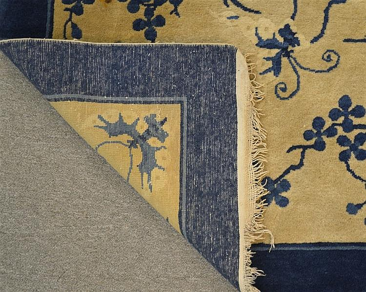 CHINESE BUTTERFLY CARPET, first quarter 20th century;