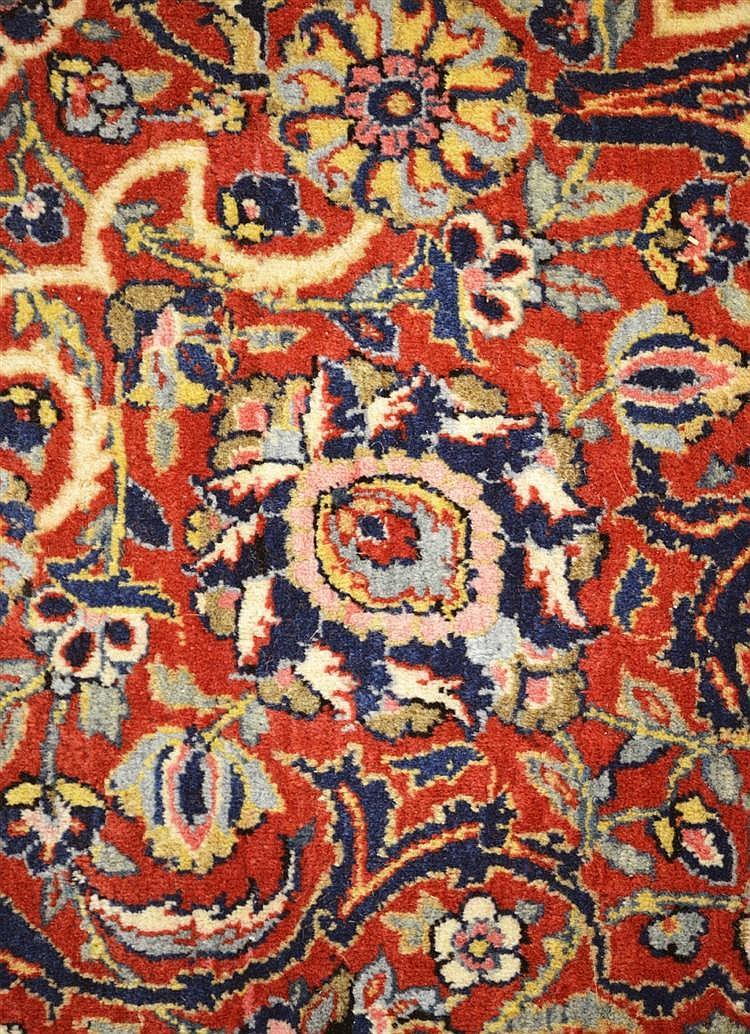 KASHAN CARPET, Persia, ca. 1925;