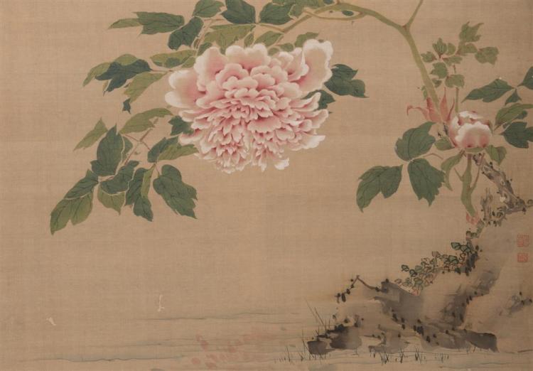 Three Asian Paintings on Silk