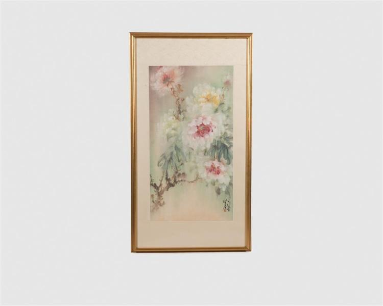 Chinese Watercolor Painting, Wo Yue-Kee (b. 1927)