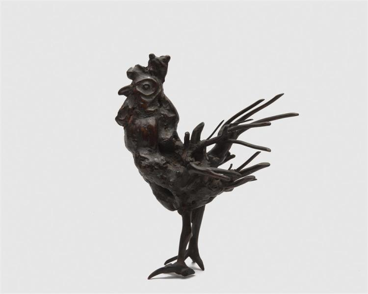 Two Root Carved Figures of Standing Birds
