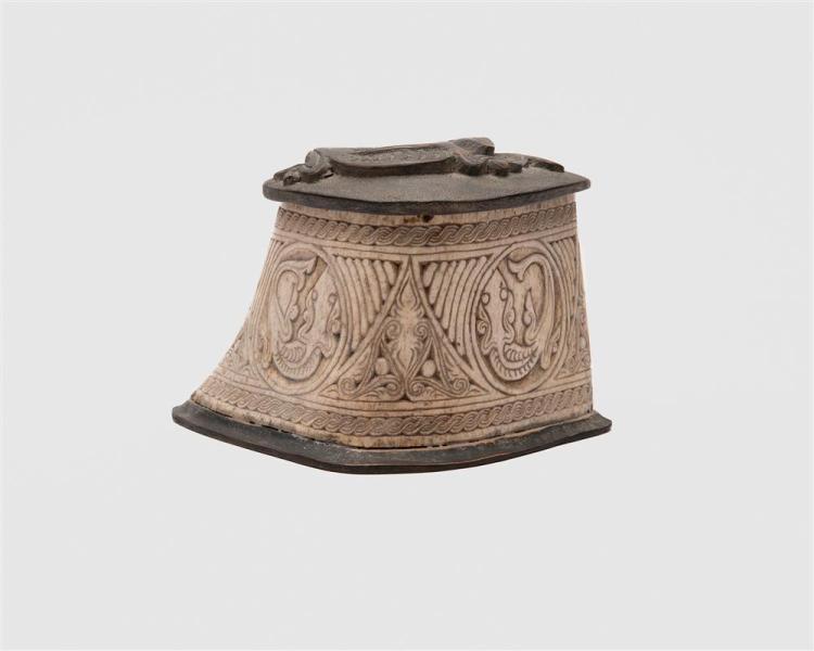 Islamic Reptilian Carved Bone Covered Box