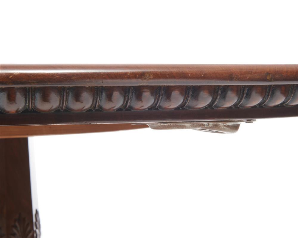 Danish Neoclassical Carved Mahogany Center Table, 19th century