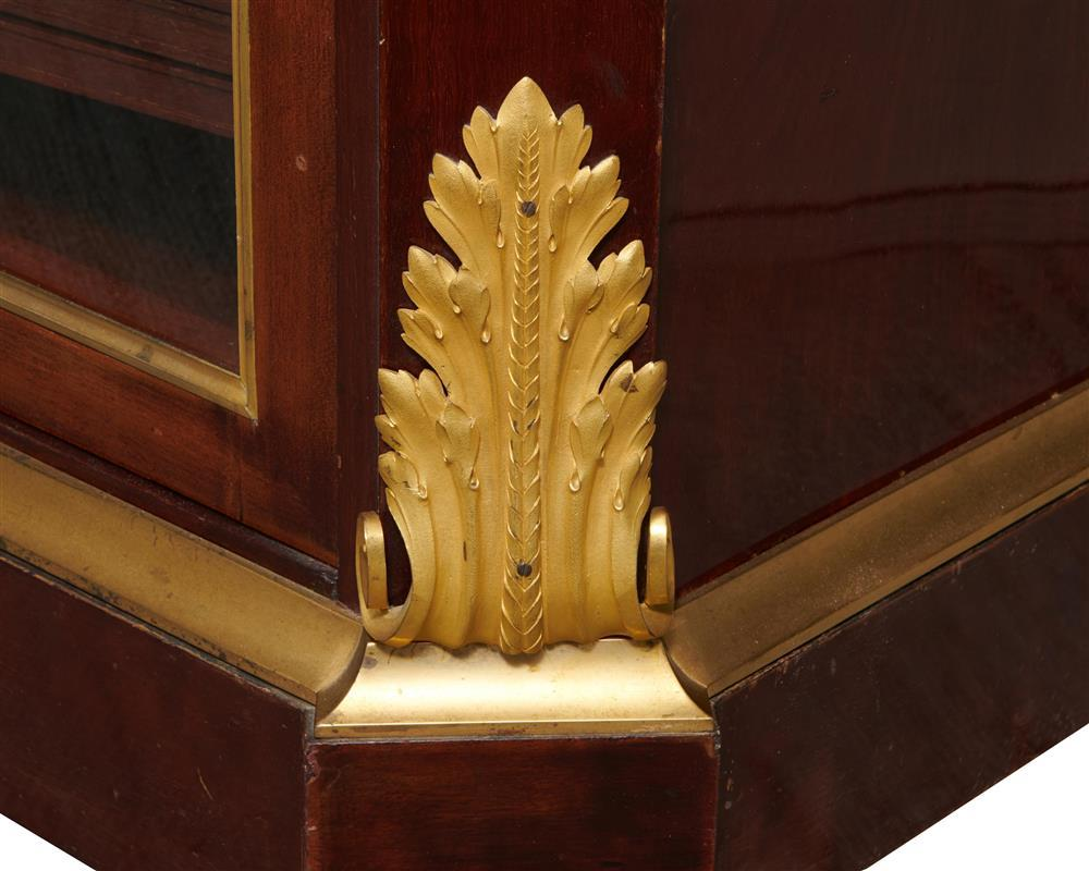 Louis XVI Style Ormolu Mounted Mahogany Bibliotheque, late 19th century, stamped twice A. Beurdeley, A Paris