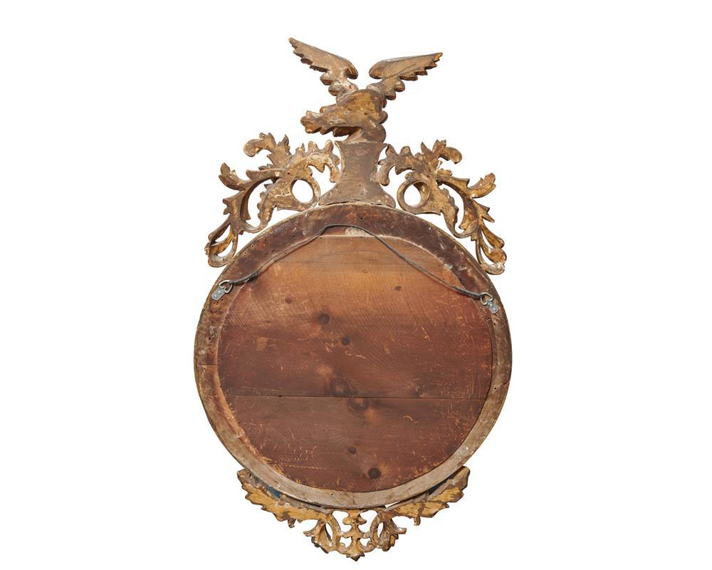 Georgian Giltwood Girandole Mirror, ca. 1800, with eagle finial