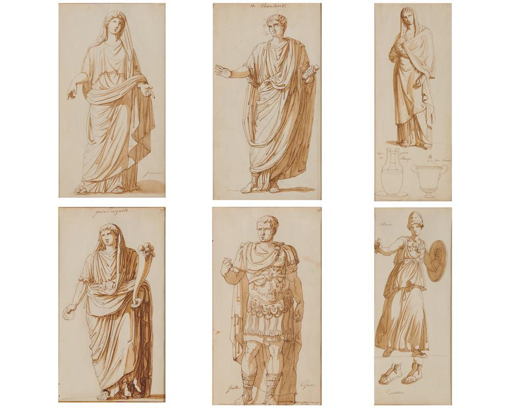 Six Old Master Style Drawings