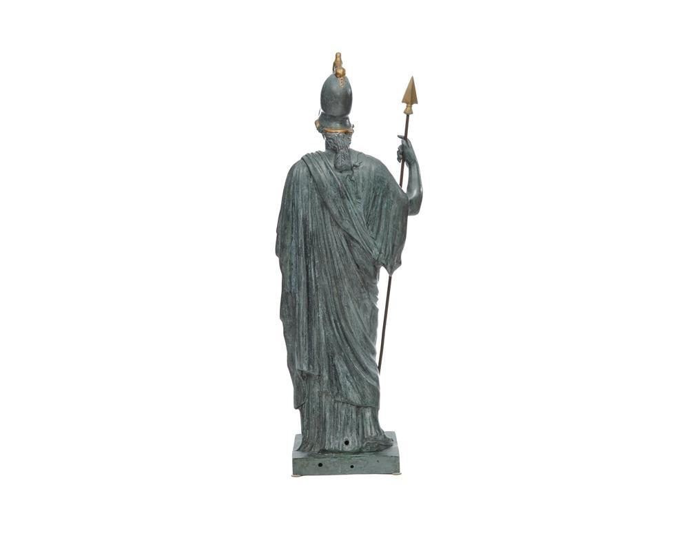Continental Patinated and Gilt Metal Figure of Athena Giustiniani, after the Antique Greek Figure of Pallas Athena, 20th century