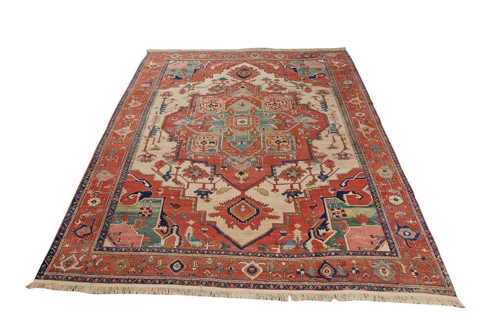 Serapi Carpet, Persia, ca. 1875, 12 ft. 2 in. x 9 ft. 10 in.