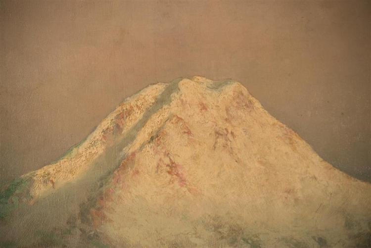 CHARLES CLYDE BENTON COOKE, (American, 1860-1933), MT. ADAMS, WASHINGTON STATE, 1896, oil on canvas, 29 x 41 in.