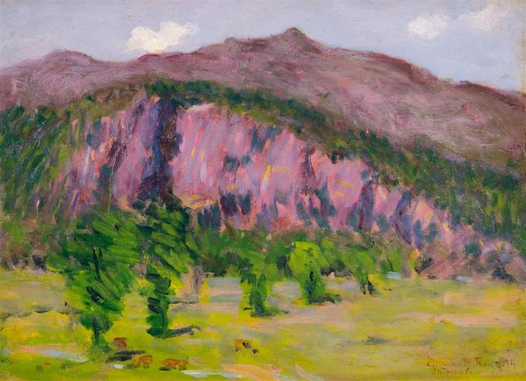 DENMAN ROSS, (American, 1853-1935), THE INTERVALE, NORTH MOAT MOUNTAIN, NH, 1894, oil on canvasboard, 10 x 14 in. (frame: 12 x 16 in...