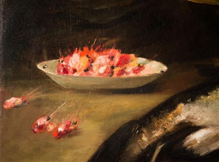 ATTRIBUTED TO WILLIAM MERRITT CHASE, (American, 1849-1916), STILL LIFE, ca. 1890, oil on canvas, 26 x 40 in.