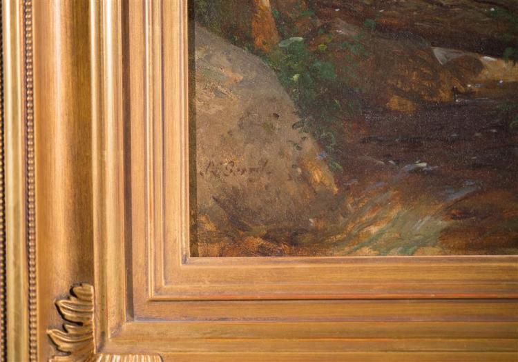 SAMUEL LANCASTER GERRY, (American, 1813-1891), VENTURESOME, ca. 1880, oil on canvas, 21 1/4 x 14 1/4 in. (replacement gilt frame: 27...