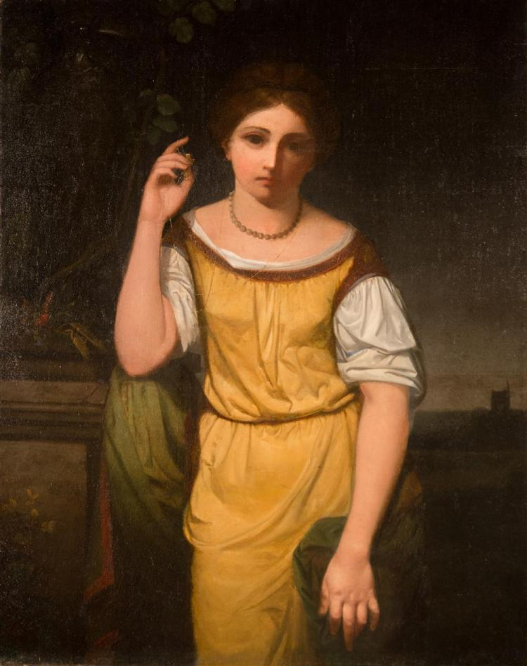 GEORGE F. FULLER, (American, 1822-1884), GENEVIEVE, 1848 oil on canvas, 34 x 27 in.