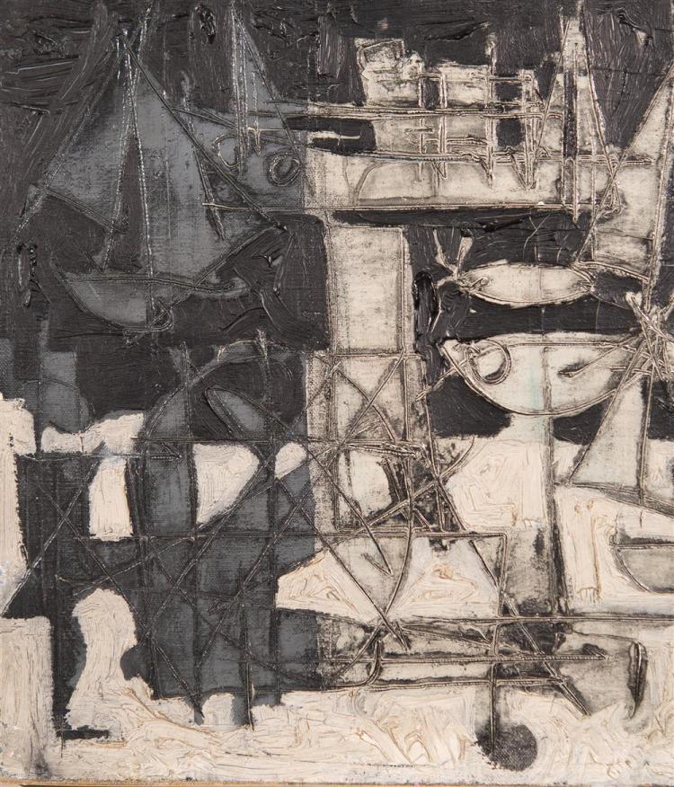 CLAUDE VENARD, (French, 1913-1999), NU SUR LA PLAGE, ca. 1955, oil on canvas, 13 x 16 in. (original frame: 18 3/4 x 21 3/4 in.)