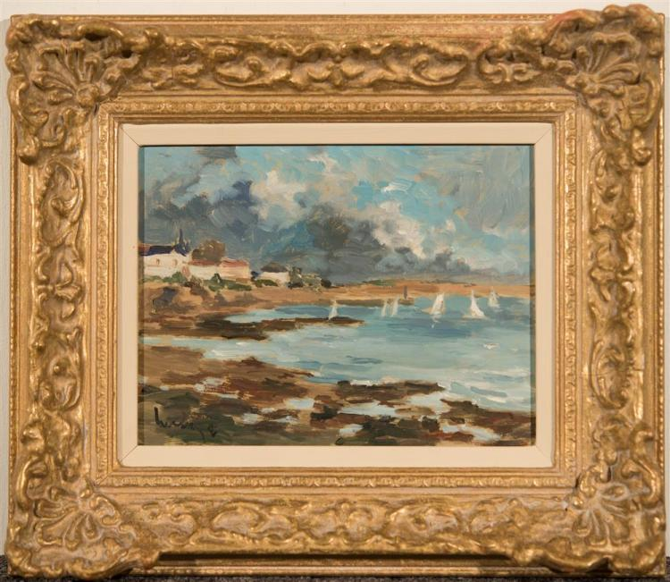 FERNAND HERBO, (French, 1905-1995), ST. GILLES CROIX DE VIE VENDEE and SO. POINTE DE LA HAGUE LE PHARE DU GOURY, ca. 1950, oil on bo...