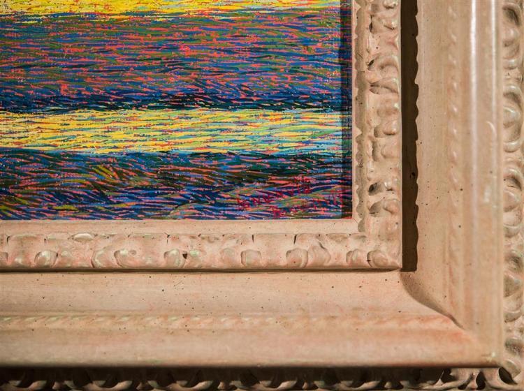 BENVENUTO BENVENUTI, (Italian, 1881-1959), HEADING HOME, ca. 1920, oil on canvasboard, 10 x 13 in. (frame: 15 x 17 in.)