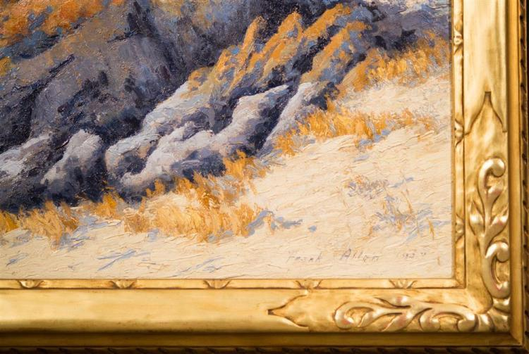 FRANK PHILLIP ALLEN, JR., (American, 1881-1943), PACIFIC NORTHWEST COASTAL SCENE, 1917, oil on canvas, 34 x 46 in. (original hand ca...