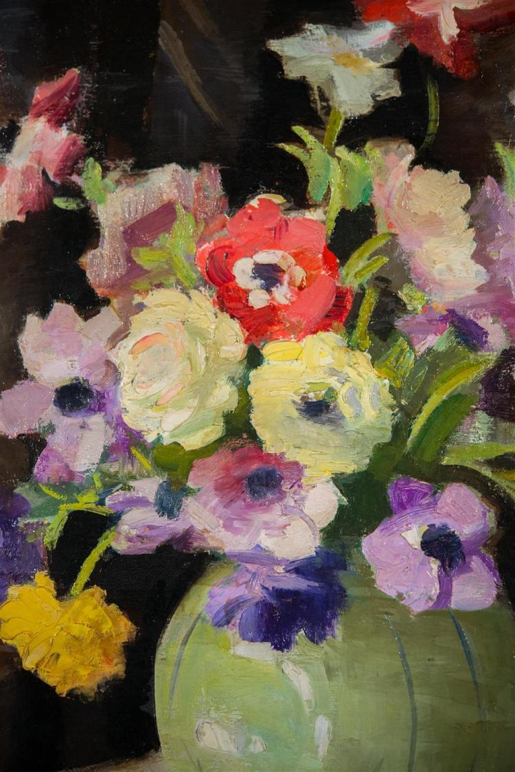 EXENE REED MEYERSHAM, (American, 1886-1978), ANEMONES, ca. 1920, oil on canvas, 24 x 20 in. (period frame: 28 x 24 in.)