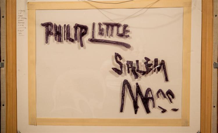 PHILIP LITTLE, (American, 1857-1942), DAPPLED SUN, ca. 1910, oil on canvas, 35 x 27 in. (original gilt Newcomb-Macklin frame: 40 x 3...