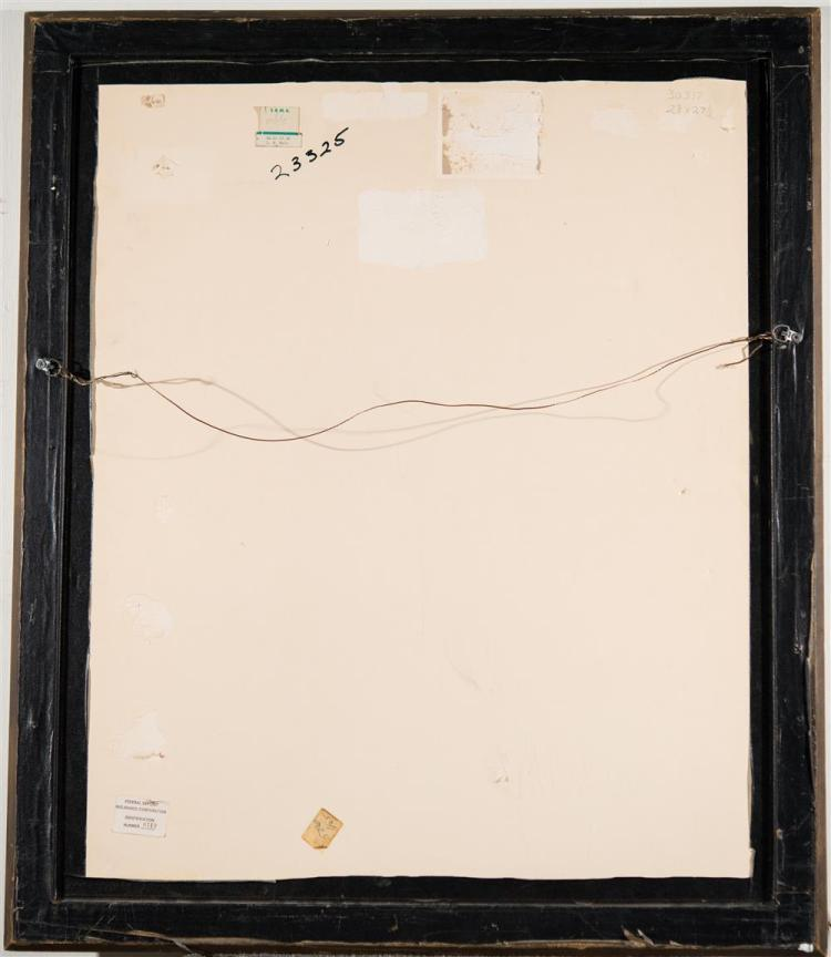 LILLIAN COLEMAN WESTCOTT HALE, (American, 1880-1963), CHURCH STEEPLE, ca. 1915, pencil on paper, sight: 28 x 22 1/2 in. (frame: 36 x...