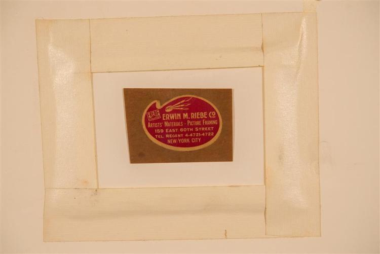 LUIGI RIST, (American, 1888-1959), GRAPES, 1943, woodblock print, plate: 7 1/2 x 9 1/2 in. (frame: 17 1/2 x 19 1/2 in.)