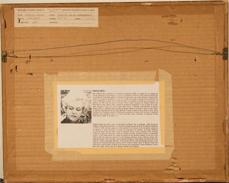 CORDELIA URUETA, (Mexican, 1908-1995), MONTANA EN EL CREPUSCULO, 1967, watercolor on paper, 8 1/12 x 12 in. (period frame: 14 x 17 1...