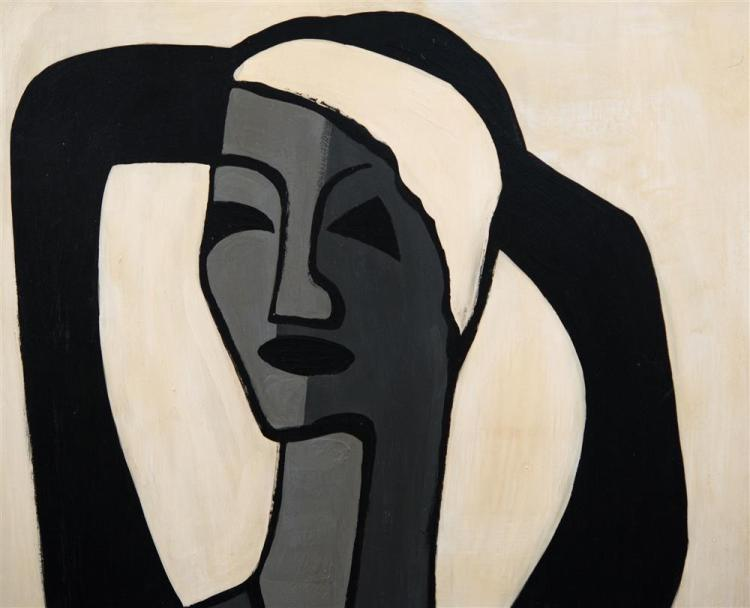 WALTER SANFORD, (American, 1912-1987), SEATED NUDE (ARTIST'S WIFE), 1959, oil on board, 48 x 24 in. (original frame: 49 x 25 in.)