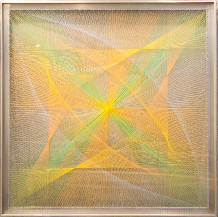 SUSAN FULLER, (American, 1914-2006), STRING CONSTRUCTION, 1965, fiber string, 42 x 42 in. (original frame: 46 x 46 in.)