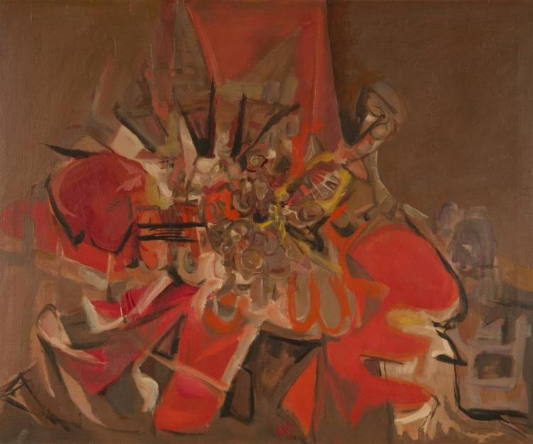 JACK WOLFE, (American, 1924-2007), STILL LIFE, 1953, oil on canvas, 26 x 31 in. (original frame: 29 x 36 in.)