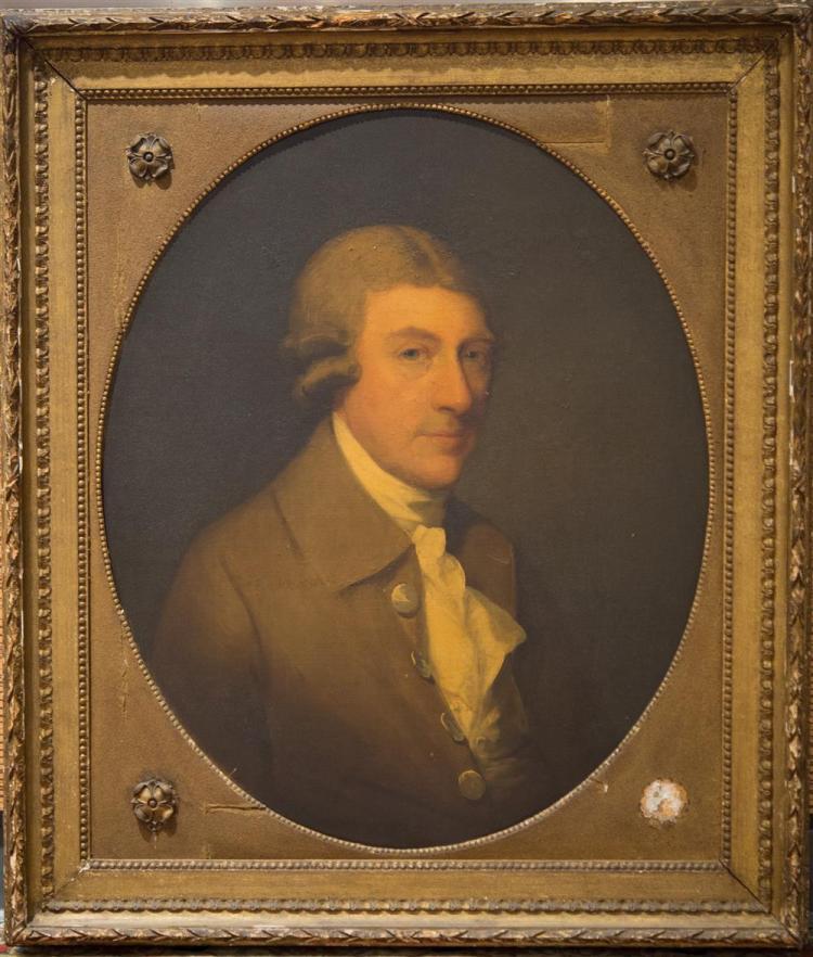 GILBERT STUART, (American, 1755-1828), PORTRAIT OF THOMAS DAWSON, VISCOUNT AND FIRST BARON CREMORNE, 1785, oil on canvas, 28 1/2 x 2...