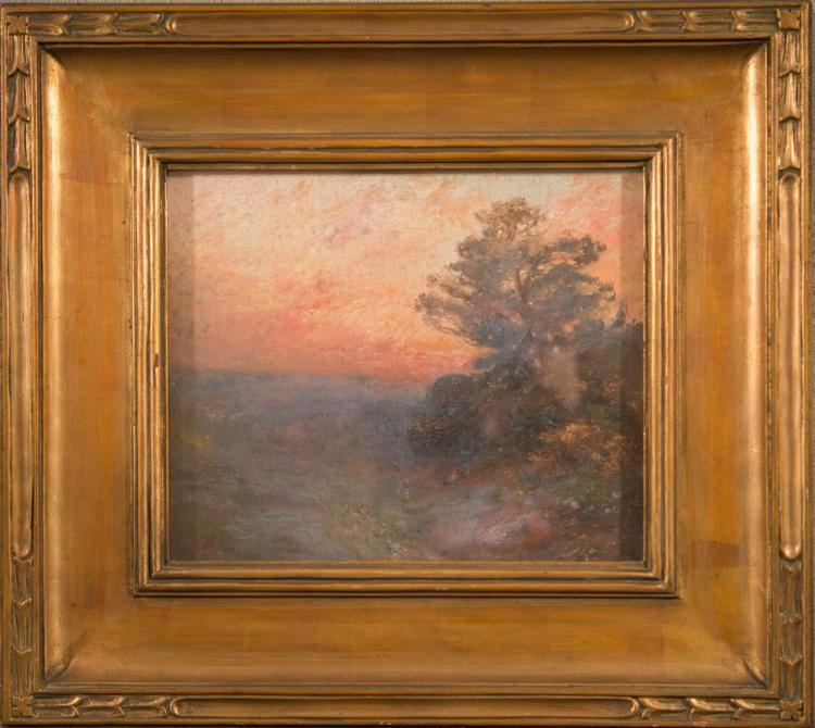 EDWARD GAY, (American, 1837-1928), TWILIGHT, CRAGSMOOR, NY, oil on canvas, 10 x 12 in. (17 x 19 in.)