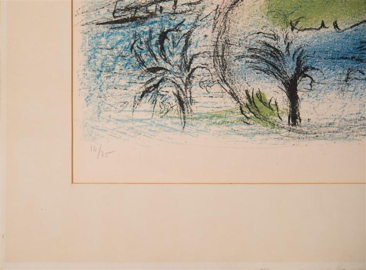 MARC CHAGALL, (French, 1887-1985), THE BAY (M. 356), 1962 colored lithograph on Arches paper, plate: 15 x 22 1/2 in.; sheet: 19 x 25...