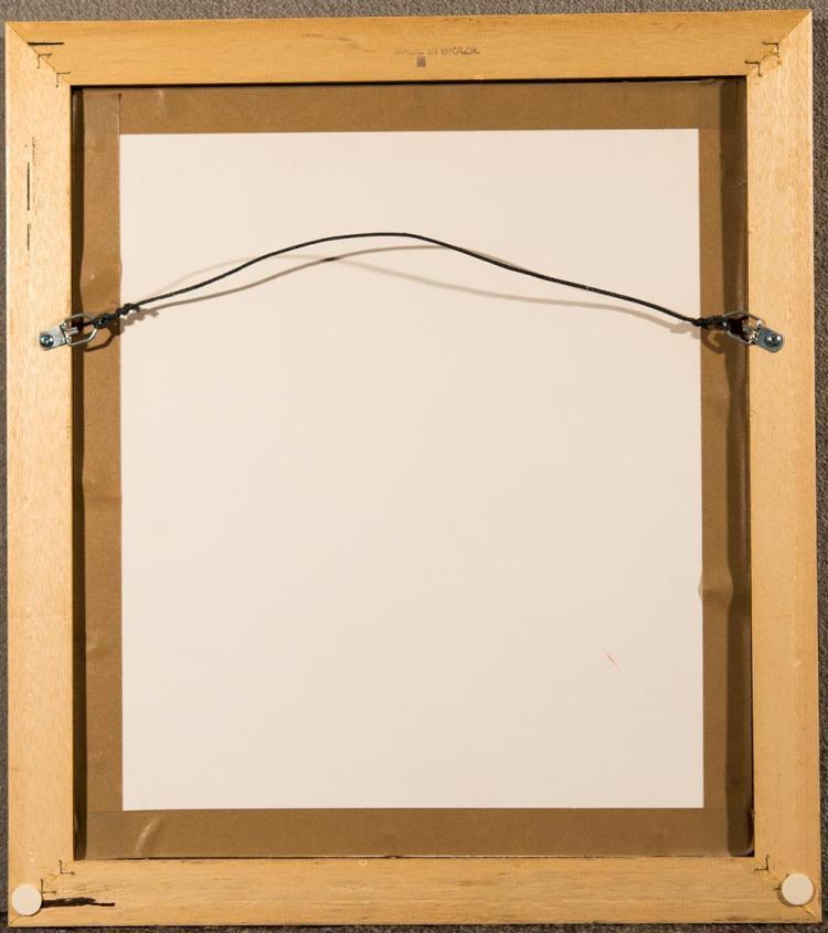 KEITH HARING, (American, 1958-1990), NEW YEAR'S EVE, 1988, silkscreen, 10 1/4 x 8 1/4 in. (18 x 16 in.)