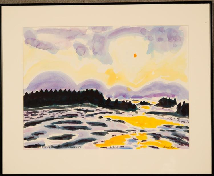 ERIC HOPKINS, (American, b. 1951), EAGLE ISLAND AFTERNOON #2, watercolor on paper, sight: 10 3/4 x 14 1/2 in. (15 1/4 x 18 1/2 in.)