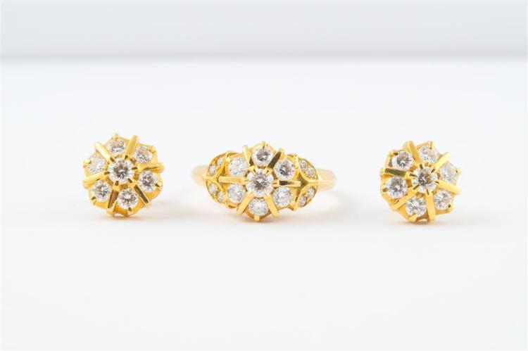 18K YELLOW GOLD AND DIAMOND SUITE