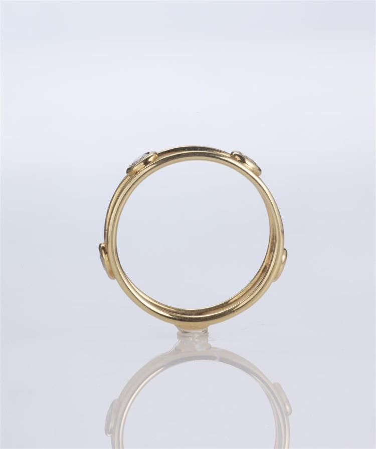 18K YELLOW GOLD AND DIAMOND RING, Elsa Peretti for Tiffany & Company
