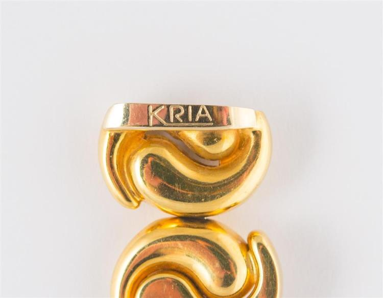 18K YELLOW AND WHITE GOLD SUITE, Kria
