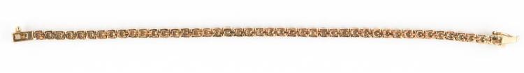 14K YELLOW GOLD AND DIAMOND LINE BRACELET