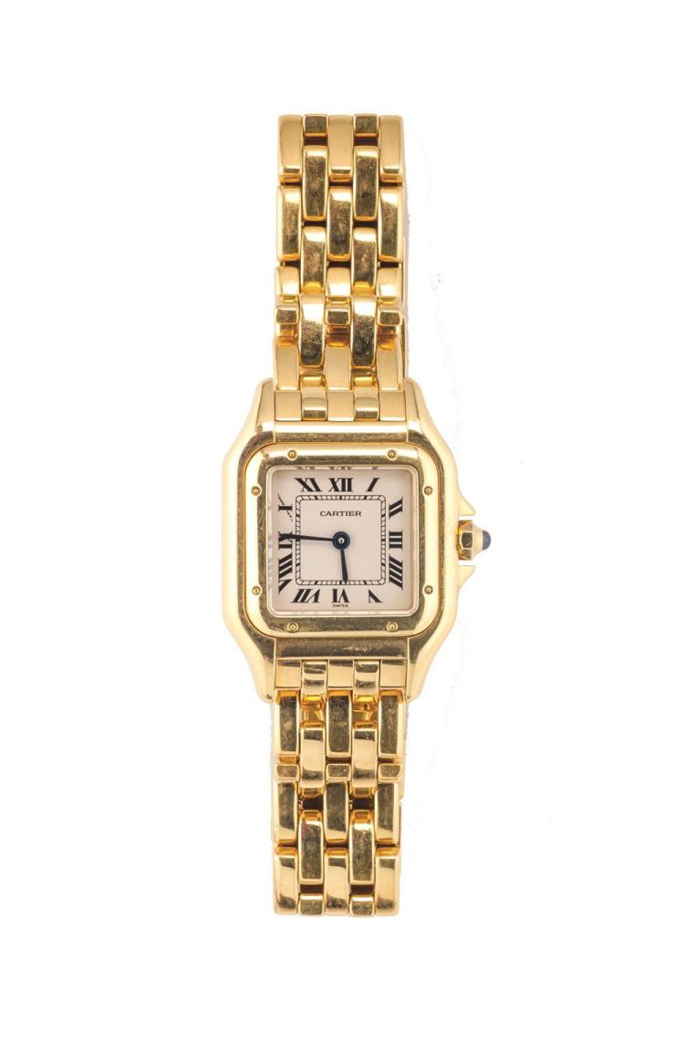 LADY'S 18K YELLOW GOLD PANTHERE WRISTWATCH, Cartier