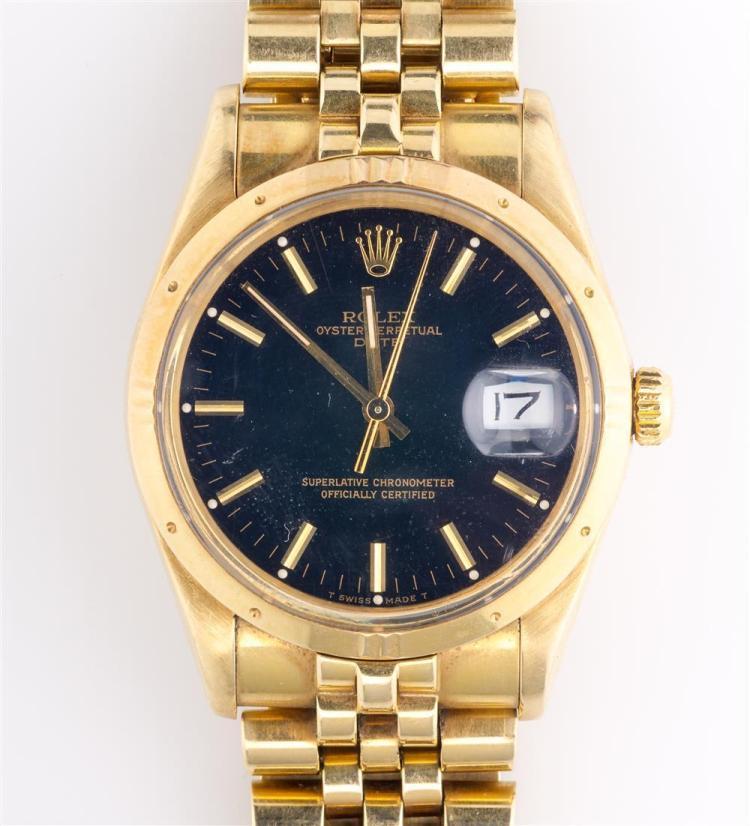 MEN'S 14K YELLOW GOLD WRISTWATCH, Rolex