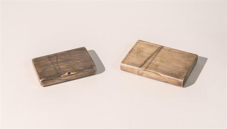 TWO ART DECO RUSSIAN SILVER CIGARETTE BOXES