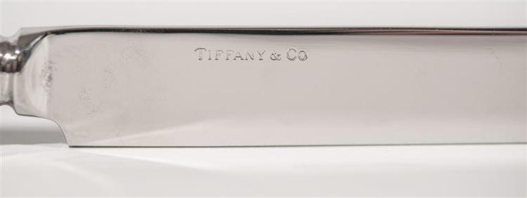 AMERICAN SILVER FLATWARE SERVICE, Tiffany and Company, maker, English King Pattern