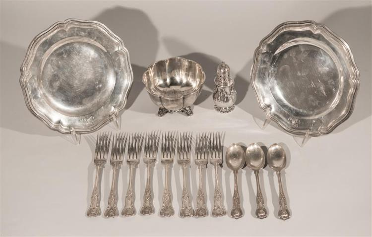 COLLECTION OF ENGLISH AND CONTINENTAL SILVER