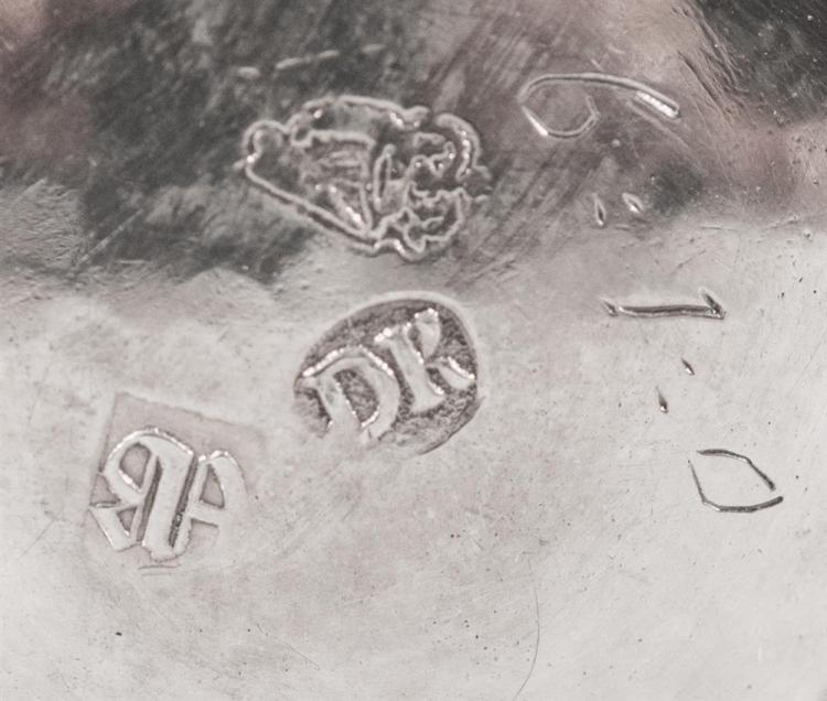 IRISH SILVER TWO HANDLED CUP, bearing marks for Dublin, 1700, D.K. (possibly David King), maker