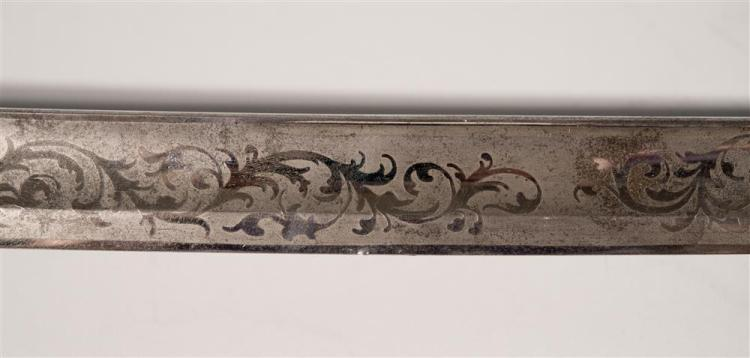 AMERICAN CIVIL WAR-ERA STAFF AND FIELD OFFICER'S SWORD AND SCABBARD, Ames Manufacturing, Chicopee, Massachusetts, ca. 1850